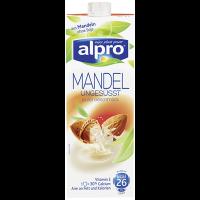 Alpro Geröstete Mandel ungesüßt, Milchersatzgetränk, 1,1 % Fett - 1 l Packung